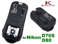 Wholesale Remote Flash Triggers - 2.4GHz Wireless Speedlite Flash Trigger Shutter Remote Control For Nikon D70S D80 Kadak DSC-14N Fuji S3 S5