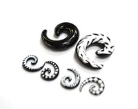 Wholesale Mixed Logo Tapers - Mixed Size mixed Logo Spiral Flesh Tunnel Tapers UV Acrylic Fashion Ear Piercing Body Jewelry DHL