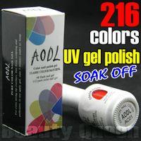 Wholesale Nail Lamp Glitter - AODL * 312Color can be choose Soak Off Soak-Off Nail Art UV LED gel polish Lamp Pure & Glitter Color Cure Curing Coat for Professional Salon