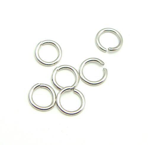 100st / parti 925 Sterling Silver Open Jump Ring Split Ringar Tillbehör för DIY Craft Smycken W5008