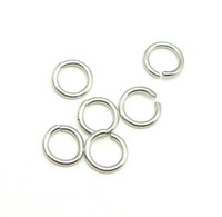 Jump Rings & Split Rings split craft - 100pcs Sterling Silver Open Jump Ring Split Rings Accessory For DIY Craft Jewelry W5008