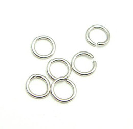 Wholesale Wholesale Silver Jump Rings - 100pcs lot 925 Sterling Silver Open Jump Ring Split Rings Accessory For DIY Craft Jewelry W5008 Free Shipping