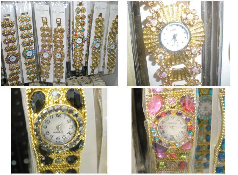 Lady Girl Rhinestone Quartz Armband Bangle Klocka 20st /