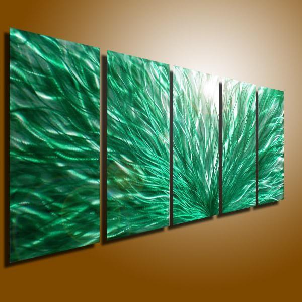 Metal Modern Abstract Wall Art Painting Sculpture Decor Original Art ...