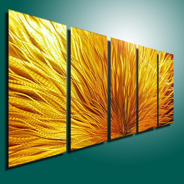 2018 Metal Modern Abstract Wall Art Painting Sculpture Decor ...