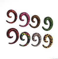 Estilo novo Spiral Aztec Design Acrylic Ear Taper Expander Stretcher Fancy Ear Plugs Flesh Tunnel