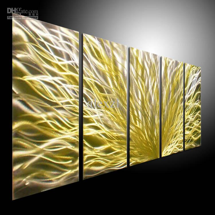 Art On Metal Unique Oil Painting Art Metal Paintings Wall Home Decor ...