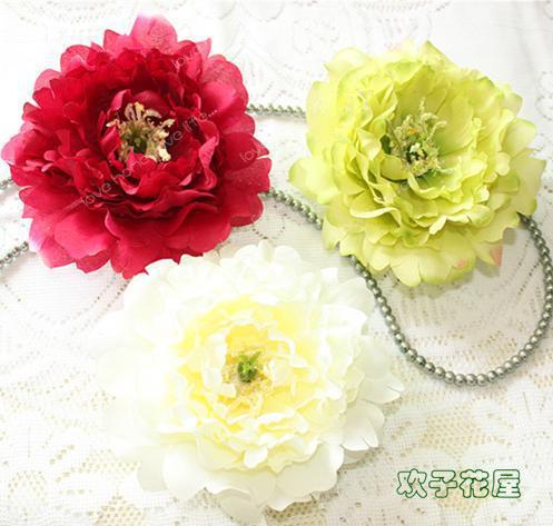 Capolini di peonia in seta 14 centimetri fiori artificiali singola testa peonia rosa palla fiore e gioielli fai da te accessori