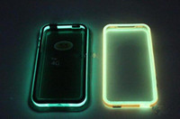 Wholesale Glow Bumper 4s - Glow in the Dark Bumper Noctilucent TPU Case Cover 10 Colors for iphone 4G 4S