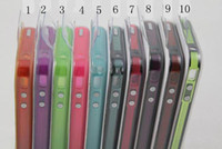 Wholesale Iphone 4s Glow Bumper - Noctilucent Bumper Frame Case Cover Glow in the Dark for iphone 4G 4S