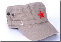 Wholesale Hat Embroidery China - Ladies Cotton Hat New Embroidery Flat Caps Star Men's Cap China style Fashion Hats 10 pcs mix Free