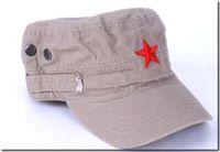 nuevas gorras de moda de china al por mayor-Sombrero de algodón de las señoras nuevo bordado gorras planas estrella gorra de los hombres estilo de China sombreros de moda 10 unids mezcla gratis