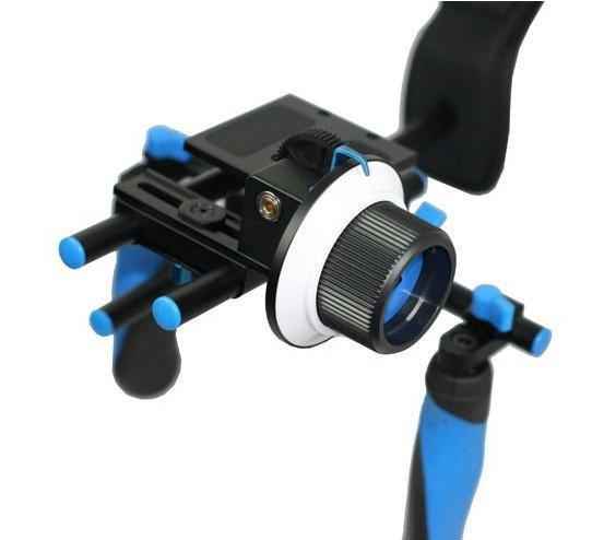 DSLR Rig Shoulder Mount And Follow Focus Professional Movie kit For Video Cameras HD Camcorder