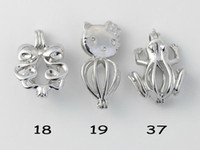WG45 Teboer Jewelry 20pcs Atacado Lockets Charm Pendants Projetos diferentes Love Wish Pearl Cages Mixed Styles