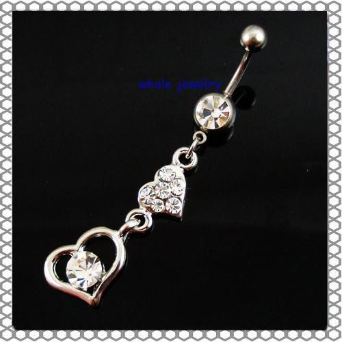 D0135  Belly Button Navel Rings Body Piercing Jewelry Dangle Accessories Fashion Charm Love Gift