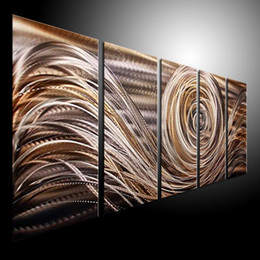 Wholesale Oil Painting Metal Art - Oil Painting art metal painting wall home Decor Metal Modern Abstract Art original art 087
