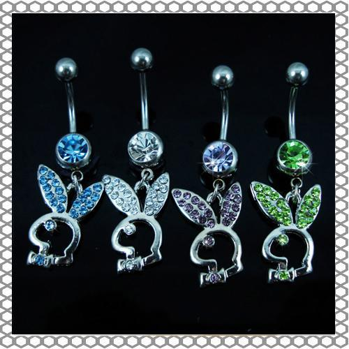 D0255   piercing body jewelry Belly Button Navel Rings Body Piercing Jewelry Dangle Accessories Fashion Charm Rabbit