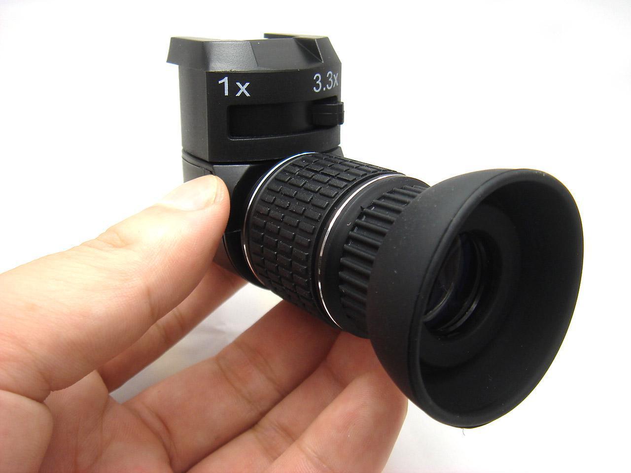 Winkelsucher Sucher 3x für SLR EOS Nikon Olympus Pentax Minolta mit 5 Augenmuschel Adapter