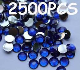 Flat Back Gems Australia - 2500pcs 3mm Blue Flat Back Resin Rhinestones Gems