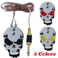 Wholesale 4pcs Skull Stainless Steel Tattoo foot switch pedal for tattoo Power Supply