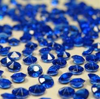 Wholesale Bridal Shower Confetti - 20bag lot 5000pcs=1bag wedding 1 3 CT Diamond Table Scatter Crystal Confetti Decoration Gems Bridal shower 4.5mm