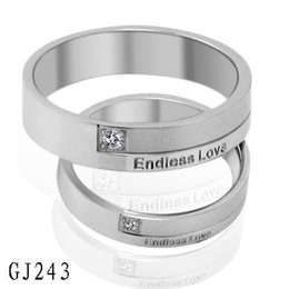 10pcs lot stainless steel ring lovers couples ring endless love stock price us size 5 11 for female 7 15 for male free shipping 243