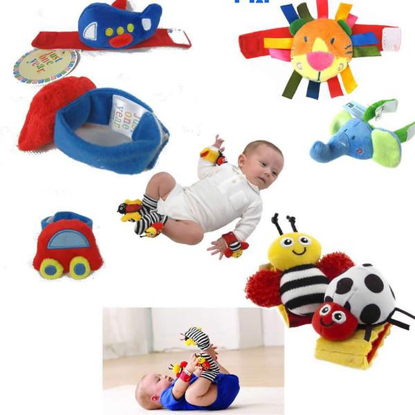 Nuovi giocattoli del bambino Lamaze Cartr giardino Bug polso sonaglio piede piede Set Finder alto contrasto piede Finders