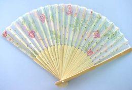 Wholesale Fabric Flower Folding - Wholesaler LOT 20X Chinese Silk folding Bamboo Hand Fan Fans Art Handmade Flower