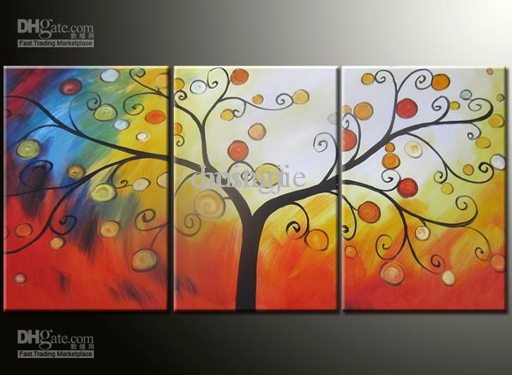 Hand Painted Wall Art 2017 hand painted wall art fruit tree abstract oil paintings on