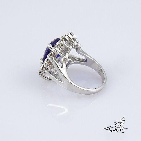 Anillos de Kate Middleton Príncipe William boda real de compromiso de zafiro de imitación del anillo de Diana