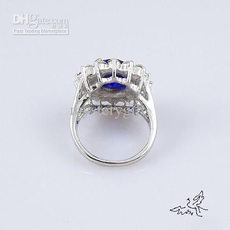 50 sztuk Kate Middleton Prince William Royal Wedding Engagement Sapphire Imitacja Ring Diana
