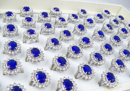 Wholesale Kate Engagement Ring - 50pcs Kate Middleton Prince William Royal Wedding Engagement Sapphire Imitation Ring Diana's Rings