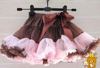 ingrosso vestito chiffon rosa del tutu per le ragazze-Pure Brown Hot Pink FULL Pettiskirt Gonna Petti Party Dance Tutu Abiti di pizzo Ragazza 2-7Y 5 pz / lotto Abbigliamento per bambini TS10715-13