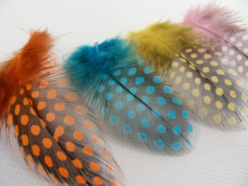Красивые пятнистые перо наращивания с расширениями бусин, STF001 Prother Grizzly