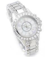 Wholesale Korea Ladies Watch - Korea Fashion Watches 2 Pcs White Dial Weiqin Stainless steel Diamond Bangle ladies Quartz Watch