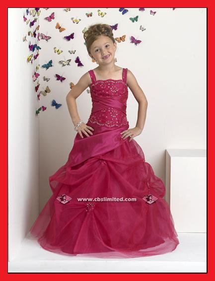 Flower Girl Wedding Bridal Bridesmaid Ball Gown Prom Evening Dress