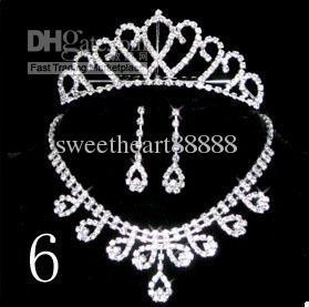 Wedding accessories New Three-piece bridal jewelry Dress accessories Bridal jewelry Necklace 02