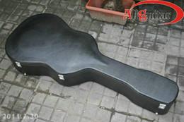 Guitarra de conchas on-line-Estojo de guitarra preto Estojo rígido para guitarra acústica de 41 polegadas