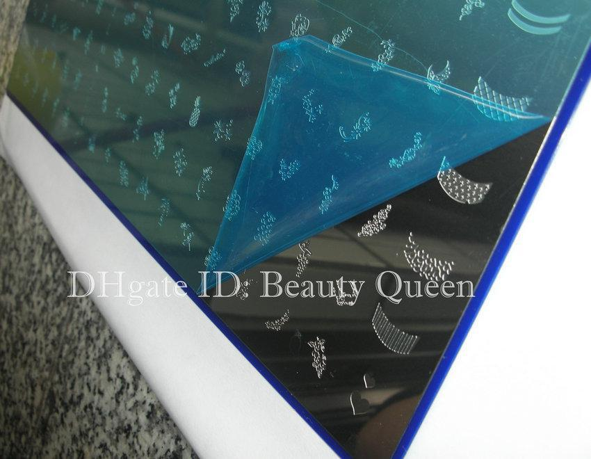268 Designs LARGE Nail Stamp Plate Nail Art Stamping Image Plate Print Template Metal Stencil DIY #A