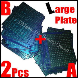 Wholesale 489 Designs! Large Nail Stamp Stamping Plate Nail Art BIG Image Plate Stencil Metal Template DIY A+B