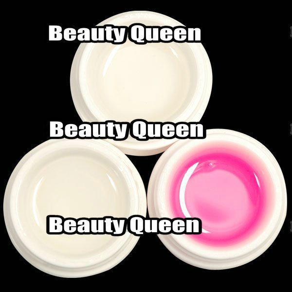 90 pz / lotto i UV builder gel 15ml nail art durevole e effetto cristallo trasparente + rosa + bianco