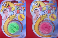 Wholesale Birds Plush Toys - Wholesale Funny toy Magic worm Twisty worm Wurli worm Magic wiggles 600pcs lot 6 colors Mixed packi