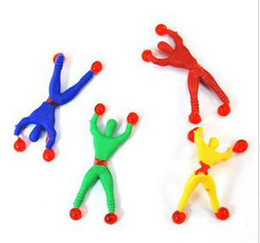 Wholesale Person Toy - 50pcs lot Free shipping funny toys wall climbing spider person climber spider-man,Children toy