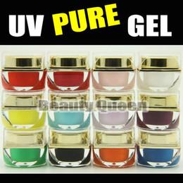 Wholesale Uv Builder Color Gel Set - 12set lot 12 color 8ml Mix Pure Colors UV Builder Gel kit set for Nail Art Salon * FREE SHIPPING *