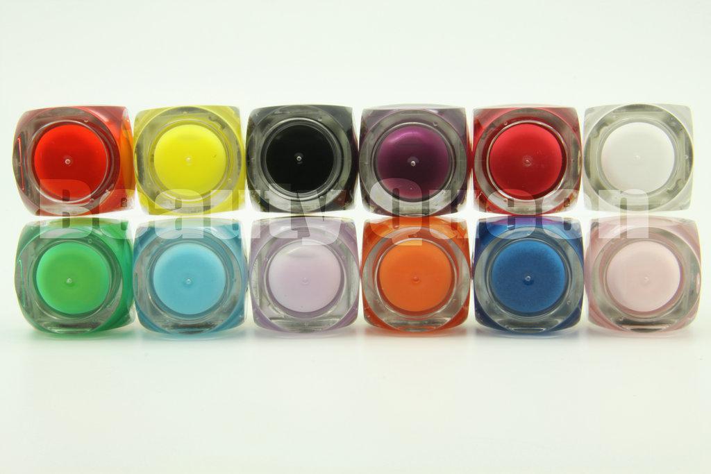 12 세트 / 많은 12 컬러 8 미리리터 믹스 순수한 색상 UV 빌더 젤 키트 세트 네일 아트 살롱 * 무료 배송 *