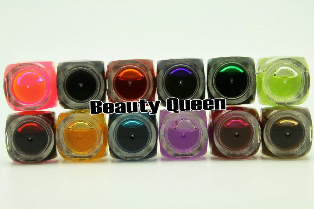 12 компл. / Лот 12 цвет 8 мл Mix GLAZE Colours UV Builder Гель комплект для салона искусства ногтя * БЕСПЛАТНАЯ ДОСТАВКА *