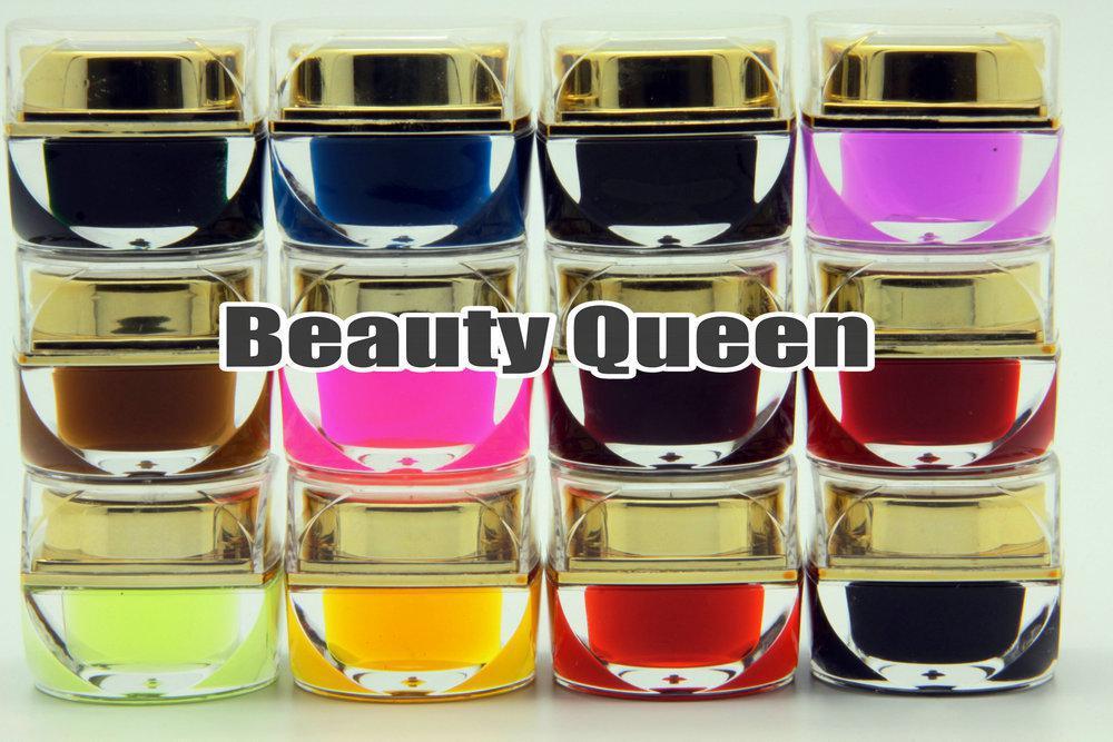 12SSätt / Parti 12 Färg 8ml Mix Glaze Fars UV Builder Gel Kit Set för Nail Art Salon * Gratis frakt *