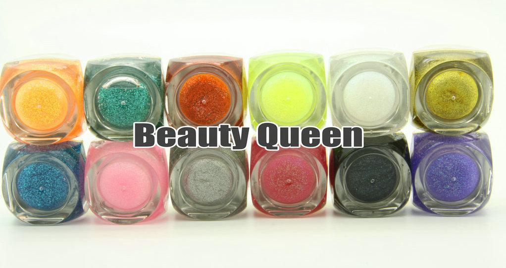 8ml Mix GLITTER Colors UV Builder Gel kit set for Nail Art Salon *