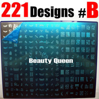 Hot selling 221Designs LARG Stamping Plate Image Plate Nail Art BIG Stamp Printing Template Metal Stencil DIY #B