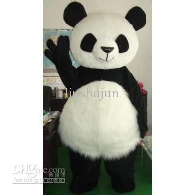 New Hochzeit Panda-Bär Monster-Maskottchen-Kostüm-Abendkleid-Erwachsen-Größe